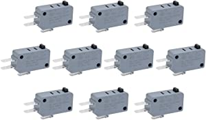uxcell 10Pcs G5T16-E1Z200 Universal Microwave Door Oven Freezer Micro Switch Series AC/DC 125V 250V