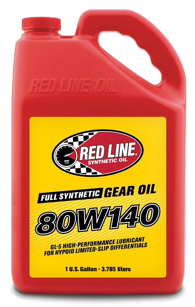 Red Line 58105 80W140 Synthetic Gear Oil - 1 Gallon, (Pack of 4) by Red Line Oil