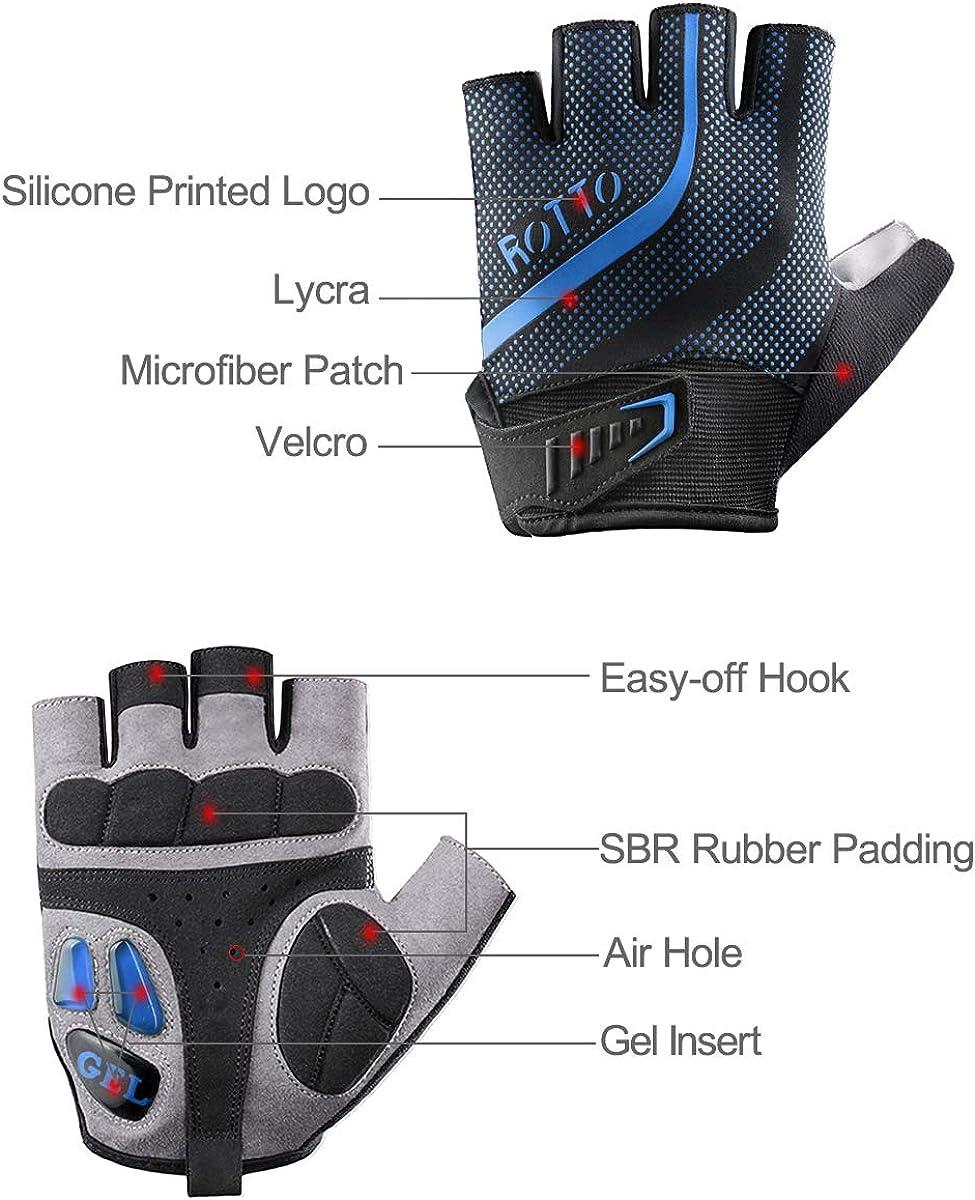 BMX-Handschuhe By ROBESBON Hochqualitative Raue Halbfinger MTB-