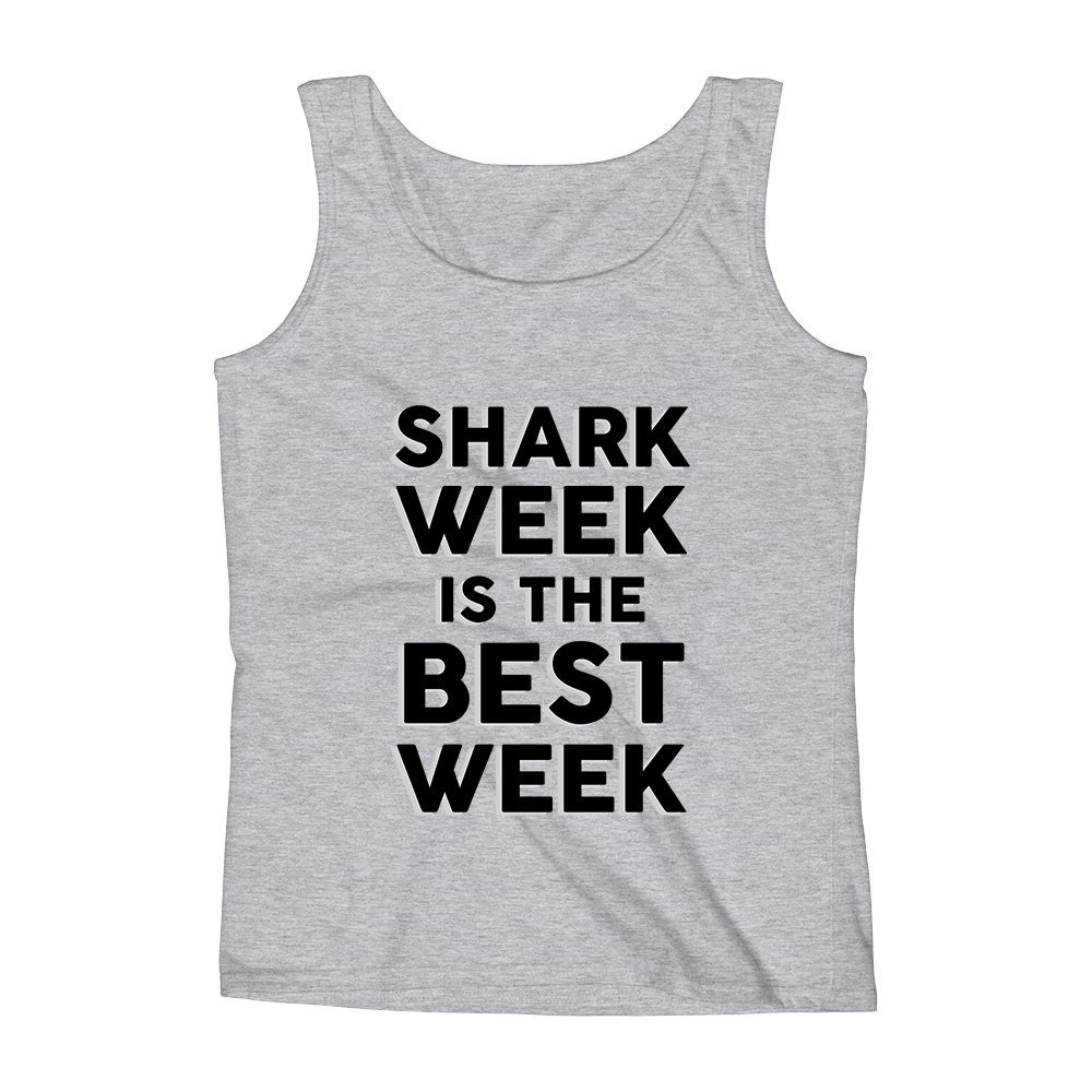 Mad Over Shirts Shark Week is The Best Week Unisex Premium Tank Top