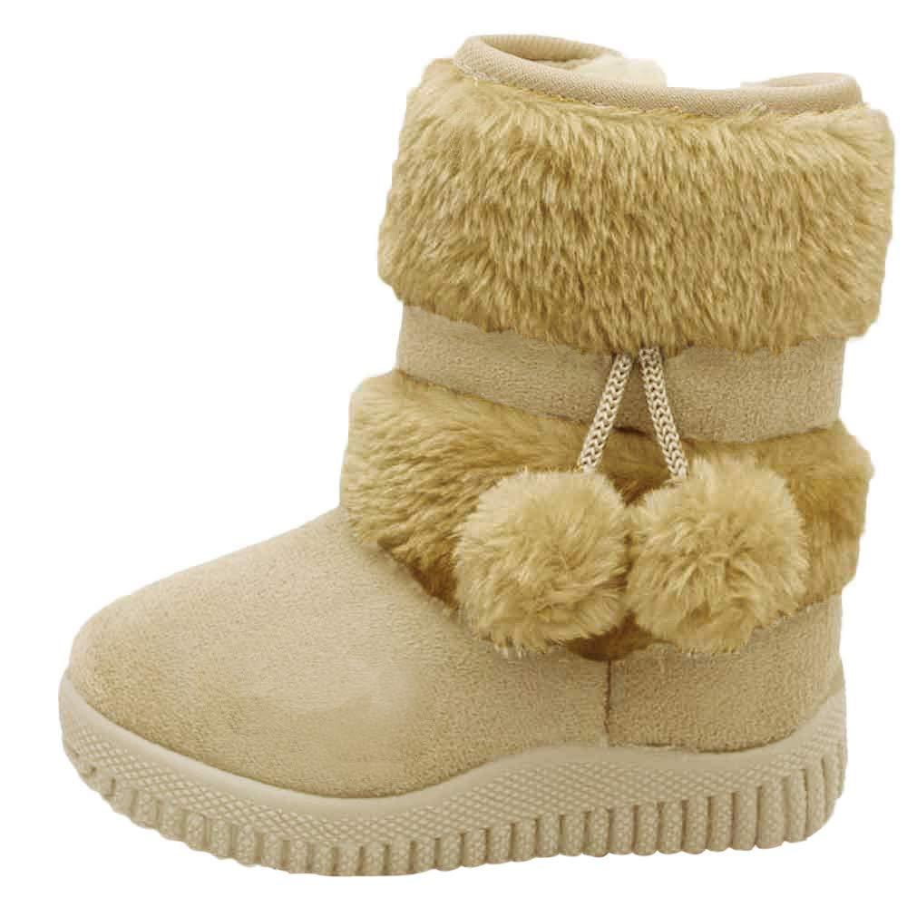 Zapatos Ni/ño Invierno Ni/ña Botas,JiaMeng Algod/ón Moda Invierno Beb/é Estilo Infantil Botas de algod/ón Botas c/álidas para la Nieve