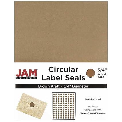 Amazon Com Jam Paper Circle Label Sticker Seals 0 75 Inch