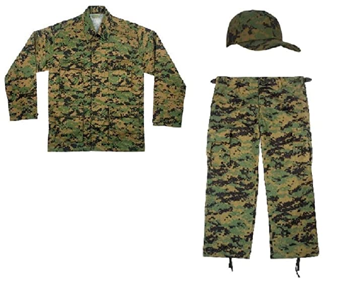 Amazon.com: Kids Woodland camuflaje digital Marines réplica ...