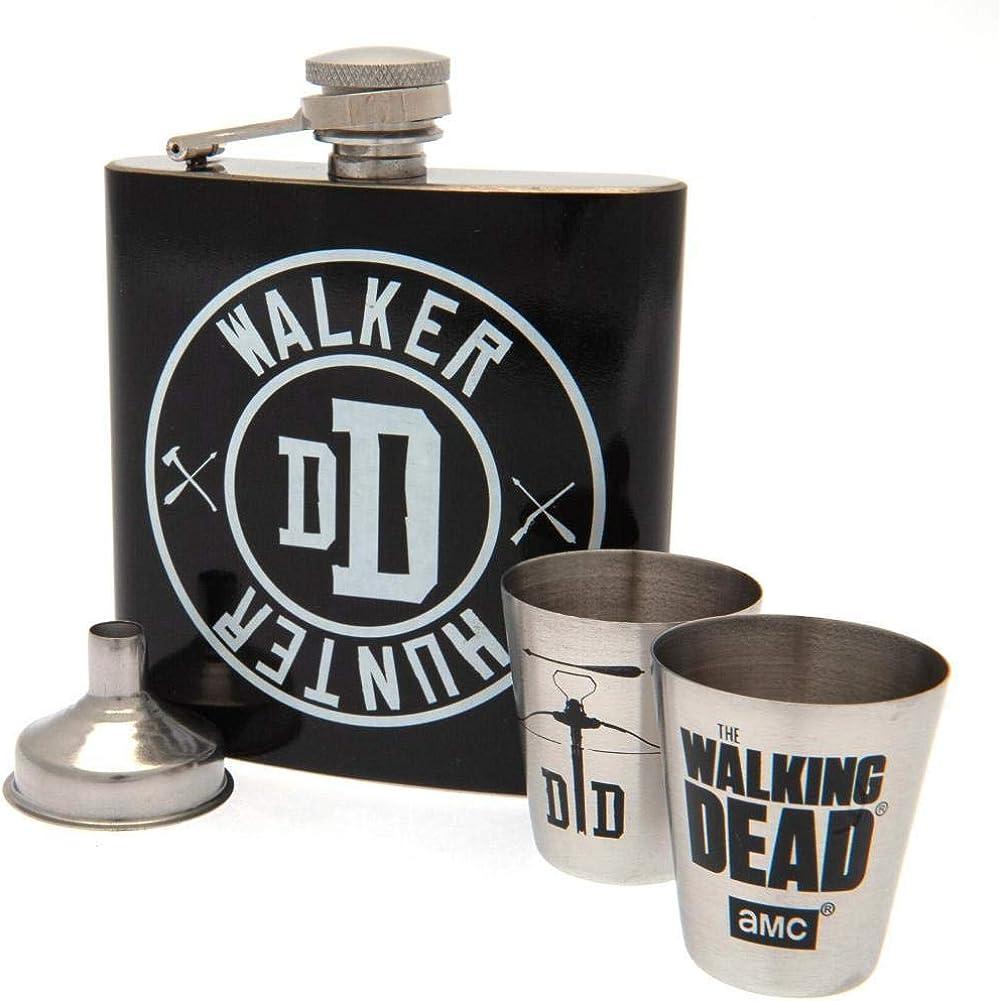 The Walking Dead embudo y vasos Juego de petaca
