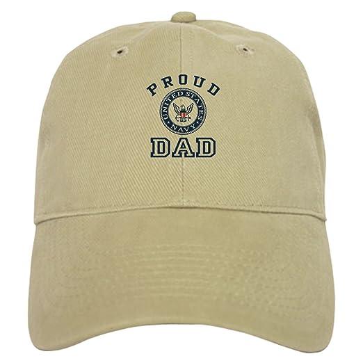 03ed22c8a88 Amazon.com  CafePress - Proud US Navy Dad - Baseball Cap with ...