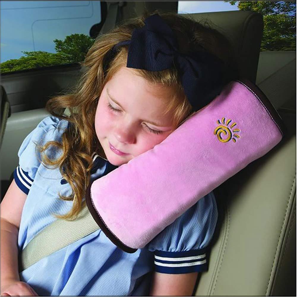 Safety Belt Protector Cushion Soft Auto Seat Belt Strap Cover Headrest Neck Support for Kids Blue+Gray Ecloud Shop/® 2pcs Seatbelt Pillow,Car Seat Belt Covers for Kids Adjust Vehicle Shoulder Pads