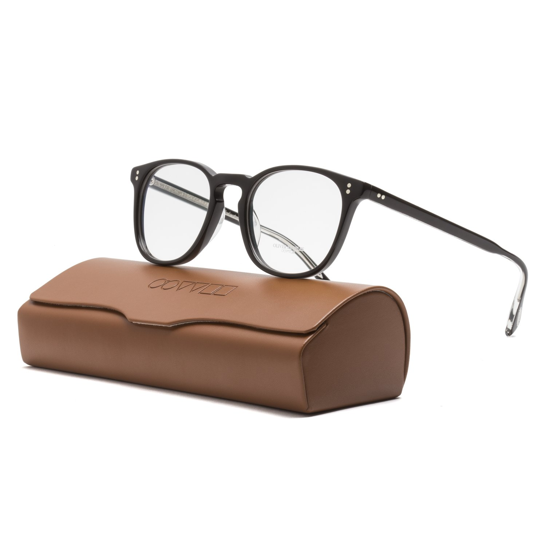 d855bc82dce Amazon.com  Oliver Peoples OV5298U Finley ESQ Eyeglasses 1492 Black Frame    RX Clear Lens 49  Oliver Peoples  Clothing