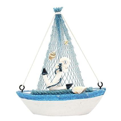 Electroprime Nautical Mini Wooden Craft Sailing Boat Amazonin