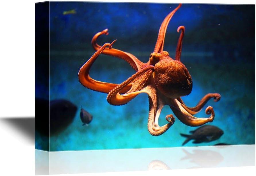 Classic Octopus Flexing - Canvas Art