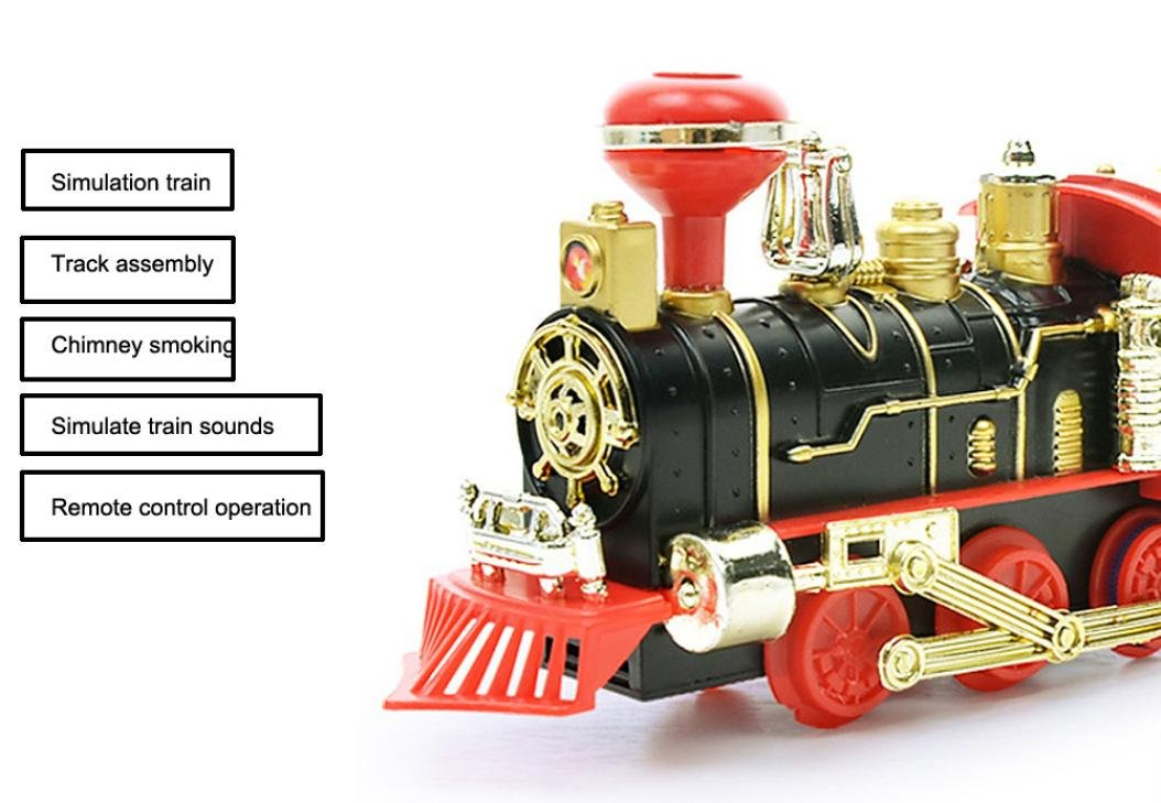 Consumer Electronics Remote Control Conveyance Car Electric Steam Smoke Rc Train Set Model Toy Gift Education Safe Factor Gift For Kids Drop Shipping Smart Remote Control