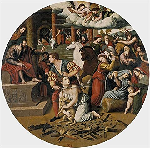 The High Quality Polyster Canvas Of Oil Painting 'Masip Juan Vicente The Martyrdom Of Saint Inez Ca. 1540 ' ,size: 30 X 30 Inch / 76 X 77 Cm ,this Reproductions Art Decorative Canvas Prints Is Fit For Bar Decor And Home Artwork And Gifts