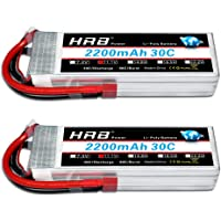 HRB 2pcs 3S 11.1V 2200mAh 30C Deans T Lipo Battery Replacement for DJI Phantom FC40 Spare Walkera E22RC Quadcopter Drone…