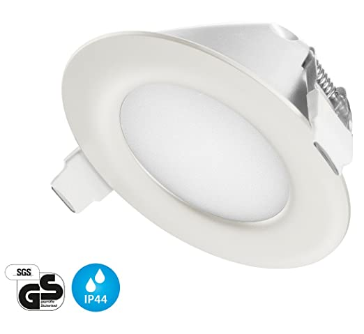 Ultra Flach LED Einbaustrahler IP44 für den Wohnbereich | auch für das Bad  geeignet | Warmweiss Kaltweiss | 4W 230V Einbauspots Einbauleuchten ...