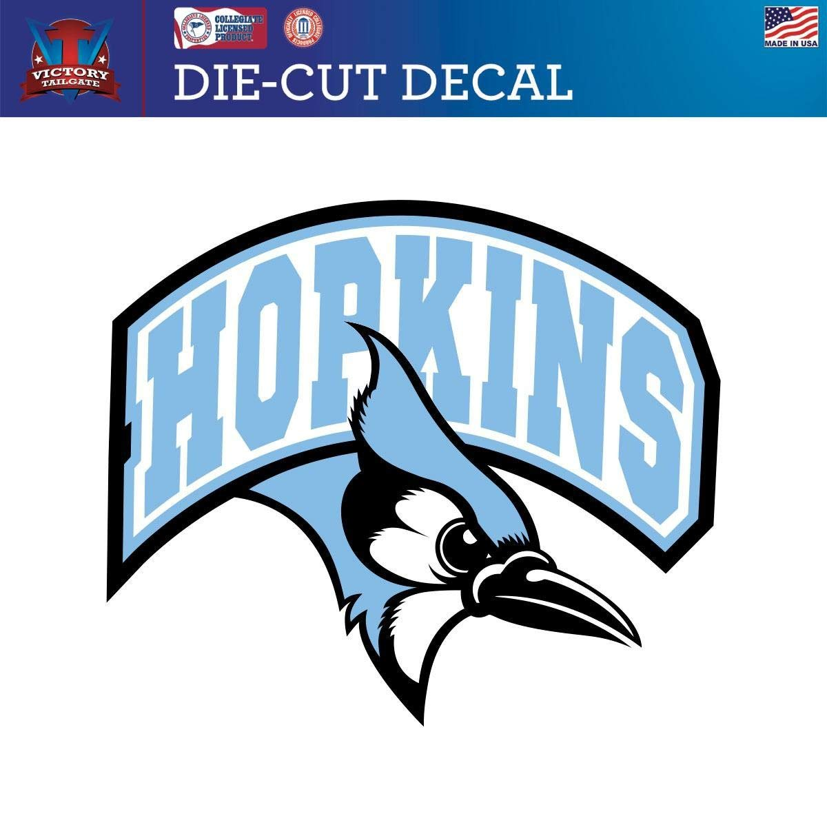 a085140eb36c Amazon.com   Victory Tailgate Johns Hopkins University Blue Jays Die-Cut  Vinyl Decal Logo 1   Sports   Outdoors