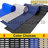 VinGrate Mat Wet Area Floor Matting for Swimming Pool Shower/Locker Room Bathroom Sauna SPA 4-Way Water Drain Indoor/Outdoor Use 3/8'' Thick Non-Slip Comfortable on Barefoot (3' x 10', Black, 1)