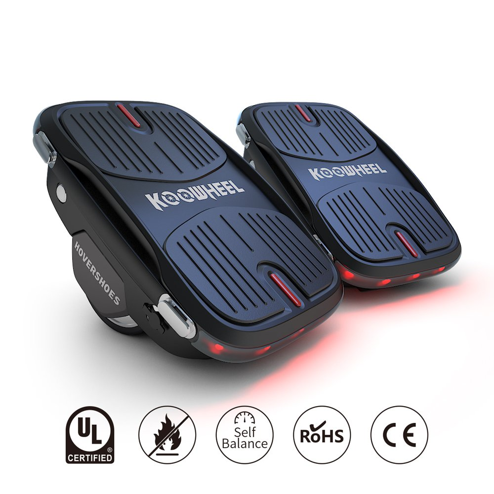 Koowheel Electric Roller Skate Hover Board with LED Lights,250W Dual Motor Self Balancing Scooter for Kids and Adults,Hovershoes Drift X1,3.5'' Freeline Skate,12km/h Max Speed
