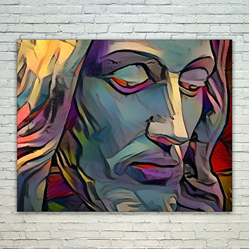 Westlake Art - Jesus Christ Lord Savior Son of God 12x18 inch Modern Poster Prints Artwork Abstract Paintings Pictures Printed Wall Art for Home Office Decorations