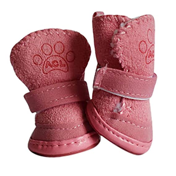 Amazon.com : HOMZE Winter Warm Shoes for Dogs 4Pcs/Set Cute Dog Boots Snow Walking Cotton Blend Puppy Sneakers Pet Supplies Dropshipping : Pet Supplies