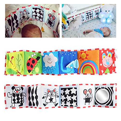 YeahiBaby Clip-on Pram Book for Baby Stroller Pram Carriage and Crib Entertainment and Development (Ladybug Pattern) by YeahiBaby