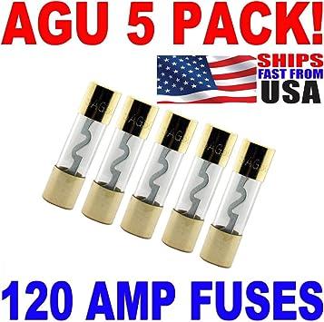4//8 Gauge AGU Fuse Holder 5 Pack 120 AMP AGU FUSES Fast Free USA Shipping