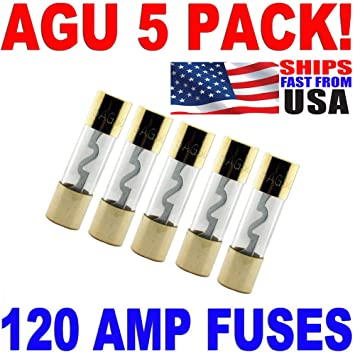 61VDt HZ0RL._SY355_ amazon com 5 pack agu fuse 120amp gold plated 120 amp agu fuse fast