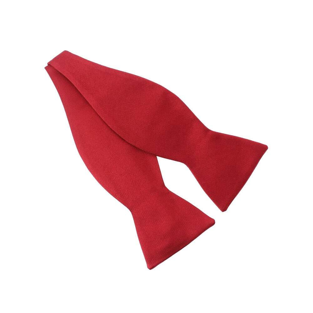 Tony & Paul – Lazo para atar de seda rojo jabalí, hecho a mano ...