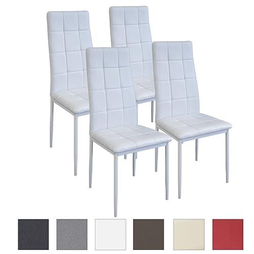 Albatros Rimini, Lot de 4 chaises de Salle à Manger, testées SGS, Blanc