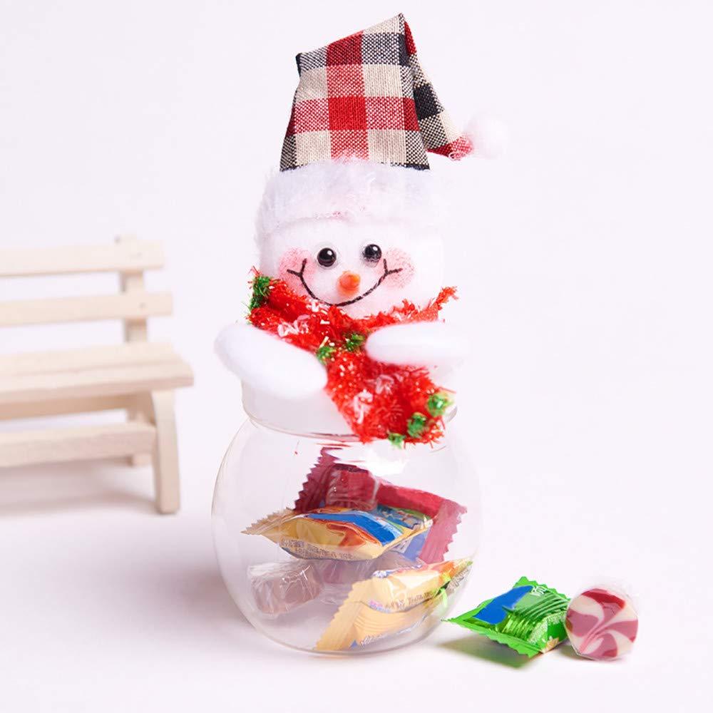 Amazon.com: Tarro de Navidad con diseño de muñeco de nieve ...