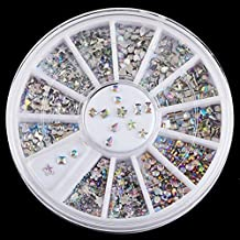 3D Diamond Gems Decoration Nail Art Random Mixed Studs Rhinestones Glitter Wheel Tips