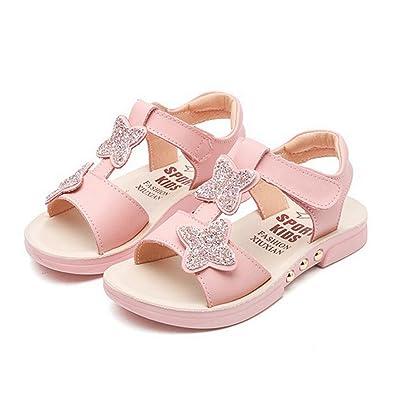 33d7dcb45552c CYBLING Kids Girls Summer Sandals Cute Open Toe T-Strap Outdoor Flat Shoes  (Toddler