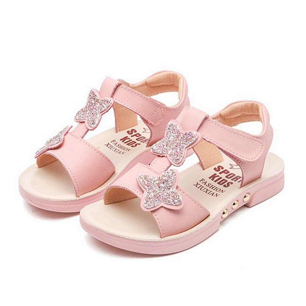 CYBLING Kids Girls Summer Sandals Cute Open Toe T-Strap Outdoor Flat Shoes (Toddler/Little Kid/Big Kid)