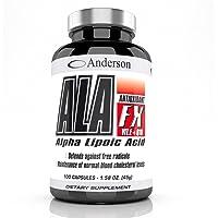 Integratore Anderson ALA FX BURN 100 capsule da 450mg | Acido alfa lipoico Coenzima Q10 Ubiquinone | Antiossidante Termogenico Bruciagrassi dimagrante