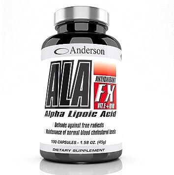 Anderson Ala Fx 100 cpr Acido Lipoico Vitamina E e Coenzima q10: Amazon.es: Salud y cuidado personal