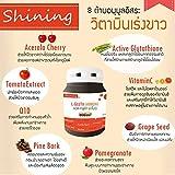 30 Capsules L-Gluta Armoni Vitamin-C Pine Bark 39000mg Speed White Clear Skin Pink Reduce black marks by acne