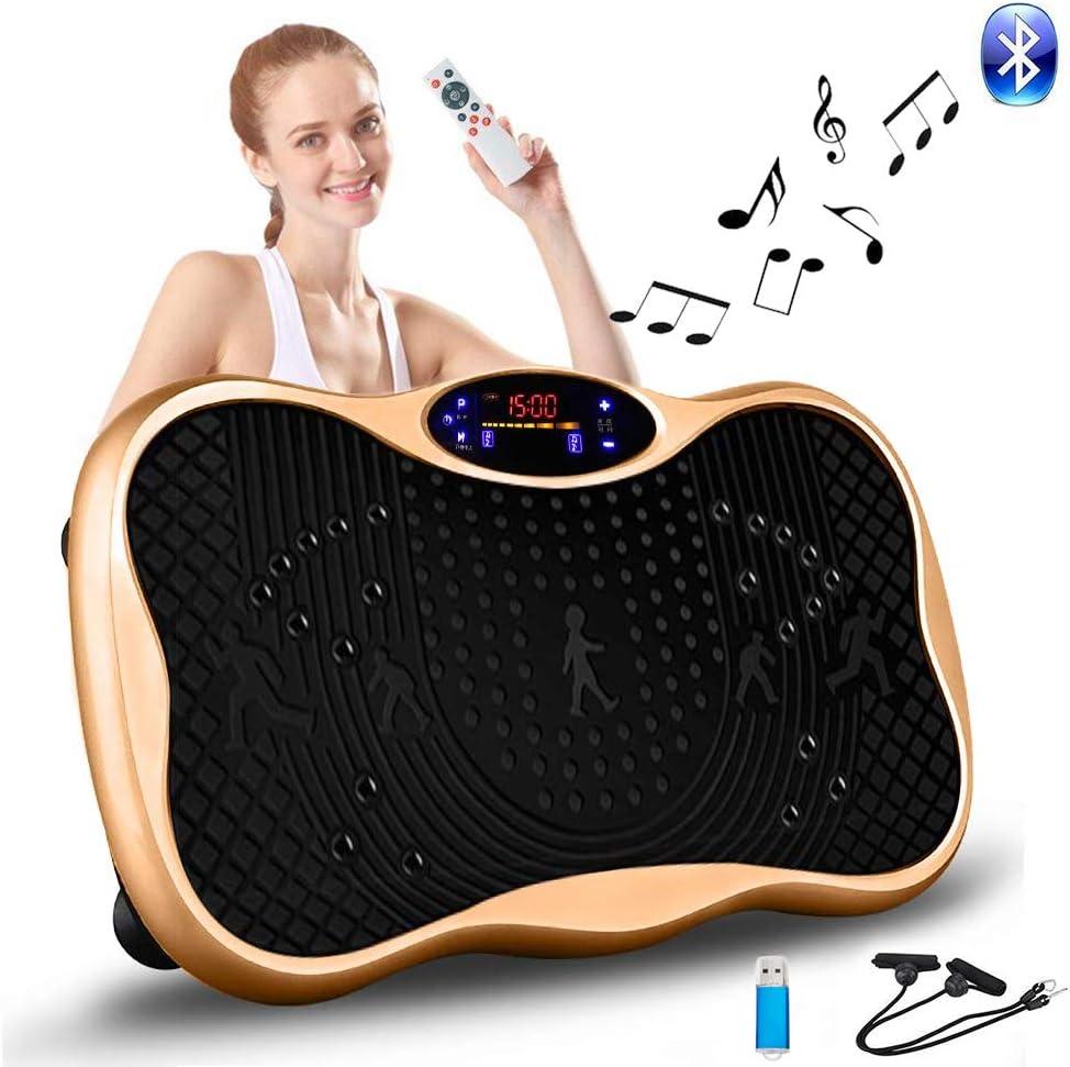 2021最新版 振動マシン 3D振動 5種類のプログラムモード 振動調節99段階 Bluetooth 音楽プレイヤー機能付 筋力トレーニング 脂肪燃焼 超静音 ダイエット 体幹強化 日本語取扱説明書