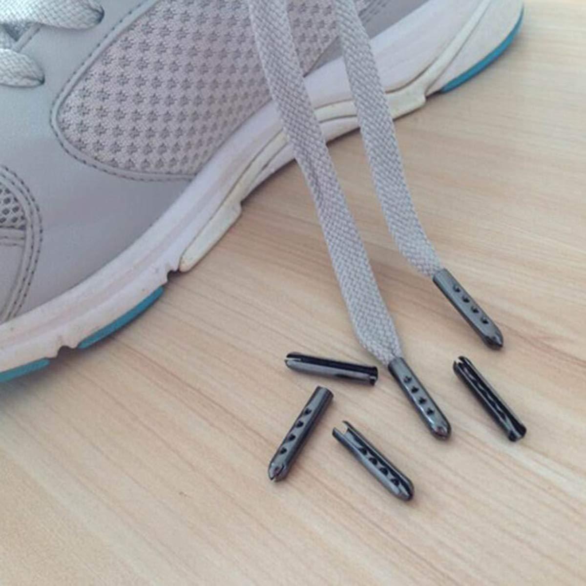 Healifty Ricambio di punte del merletto delle scarpe di riparazione della testa dei lacci di DIY di 200pcs