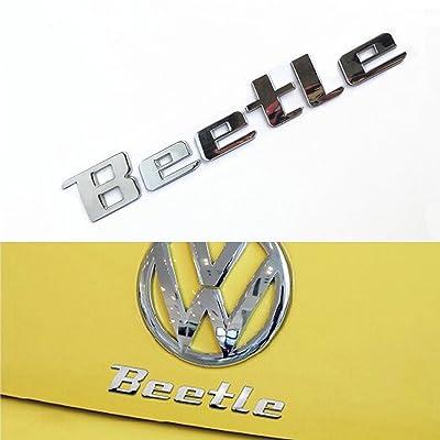 TK-KLZ 3D Metal Beetle Logo Car Emblem Badge Sticker Decals for All Models VW Volkswagen Beetle Decoration Styling: Automotive