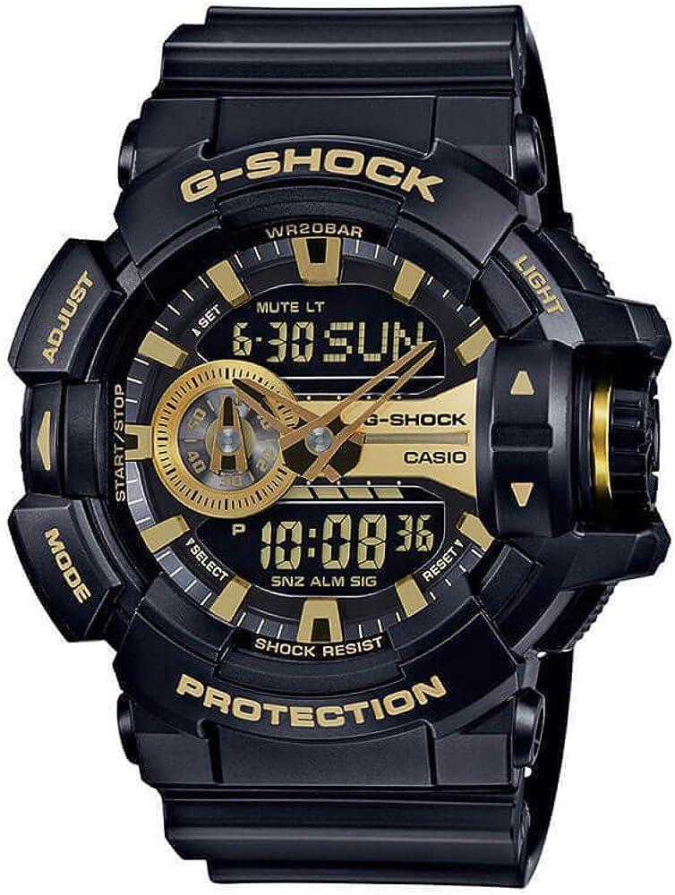 Casio G-Shock GA-400GB Garish Series Watches – Black Gold One Size