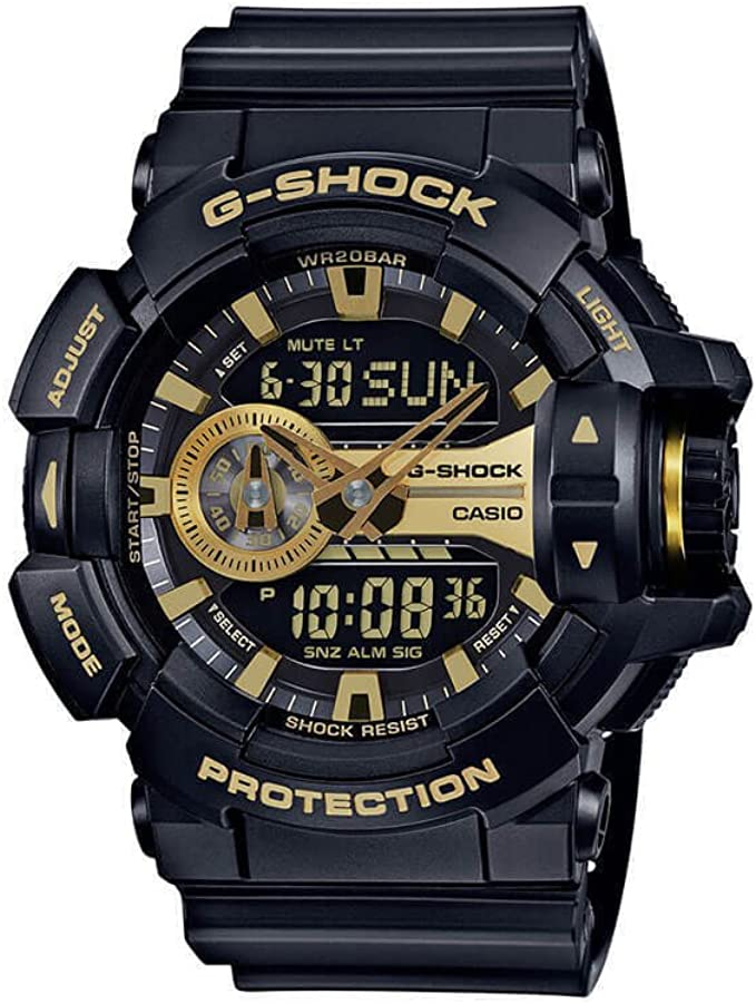 Amazon.com: Casio G-Shock GA-400GB Garish Series Watches - Black/Gold / One Size: Watches