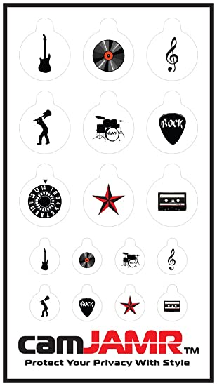 feb65d42ce5 Webcam Cover/Stickers for Online Privacy. Fits Laptop, Tablet, Cell Phone,  Smart Tv, Xbox and More! camJAMR Rocker Pack (Includes 12 Webcam Covers):  ...