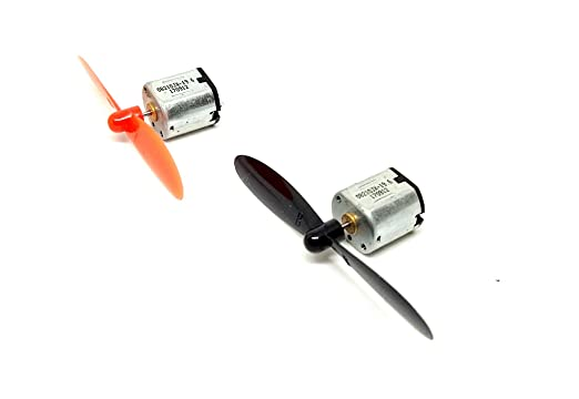 INVENTO 2pcs N10 3.7V Mini Drone DC Motor 10x12x10mm 16000 RPM with 2Pcs 55m Propeller For Helicopter Drones Toy Car Robot DIY