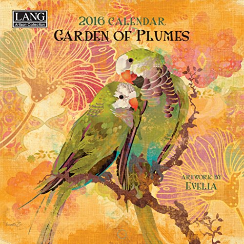 Lang Garden of  Plumes 2016 Mini Wall Calendar by Evelia Sowash, January 2016 to December 2016, 7 x 14 Inches (1079252)