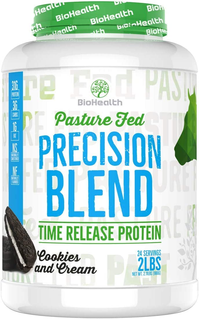 Precision Blend Cookies and Cream 2 lb Whey Protein Time Release Protein Blend