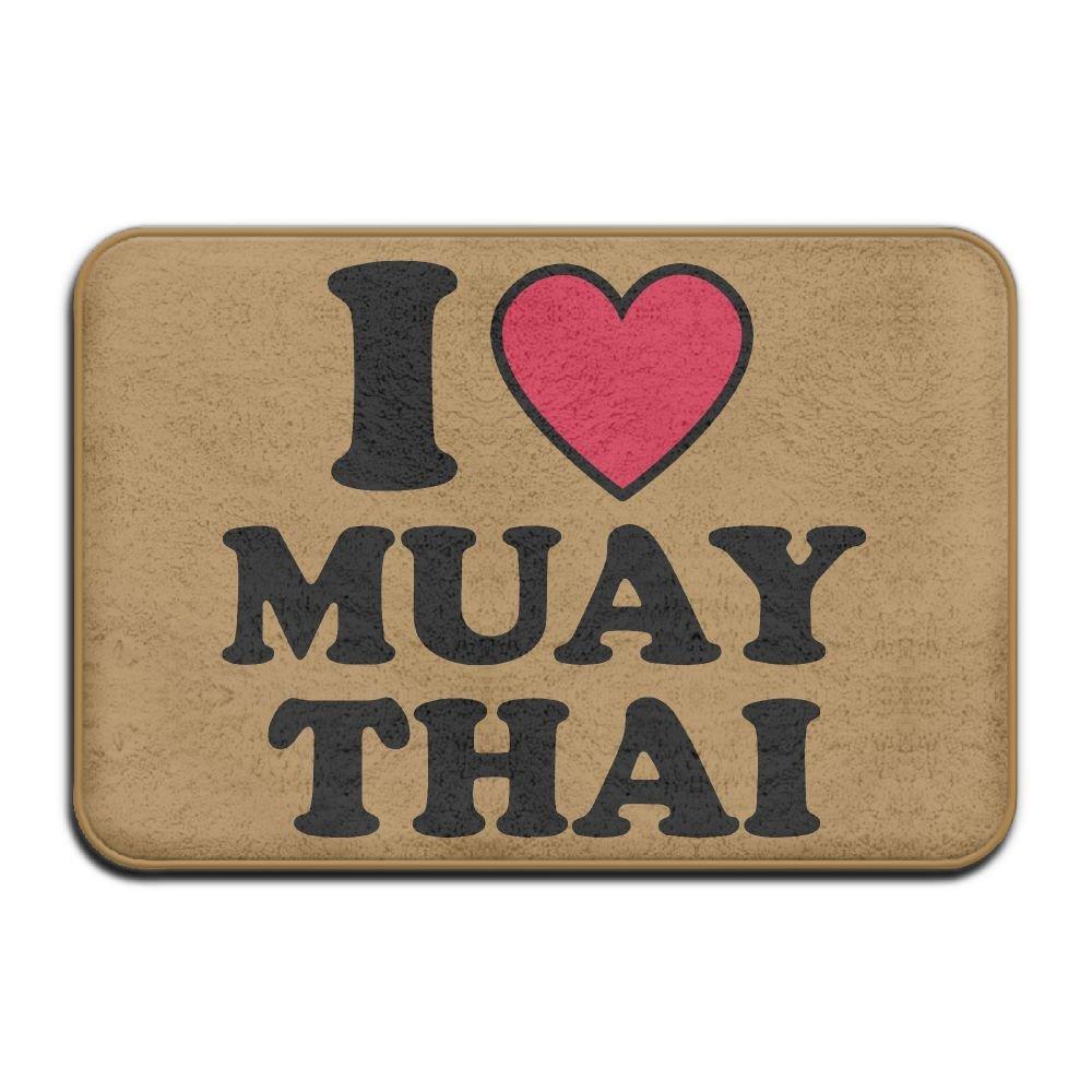I Love Muay Thai Antiskid Outdoor Rug Bath Mat