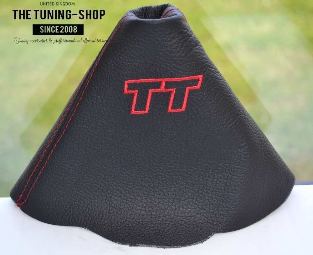 The Tuning-Shop Ltd Shift Boot Black Leather with Red Tt Edition