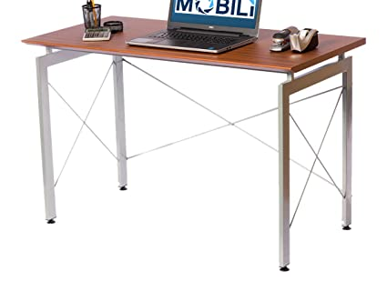 Techni Mobili Stylish Computer Office Desk, Mahogany