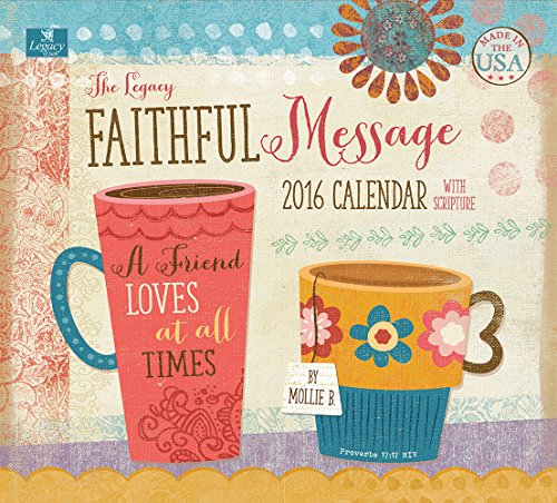 Legacy Publishing Group 2016 Wall Calendar, Faithful Message (WCA18918)