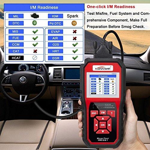 KONNWEI OBD2 Scanner OBDII Auto Diagnostic Code Scanner Universal Vehicle Engine O2 Sensor Systems Scanner OBD2 EOBD Scanners Tool Check Engine Light Code Reader for all OBD II Protocol Car Since 1996 by KONNWEI (Image #5)