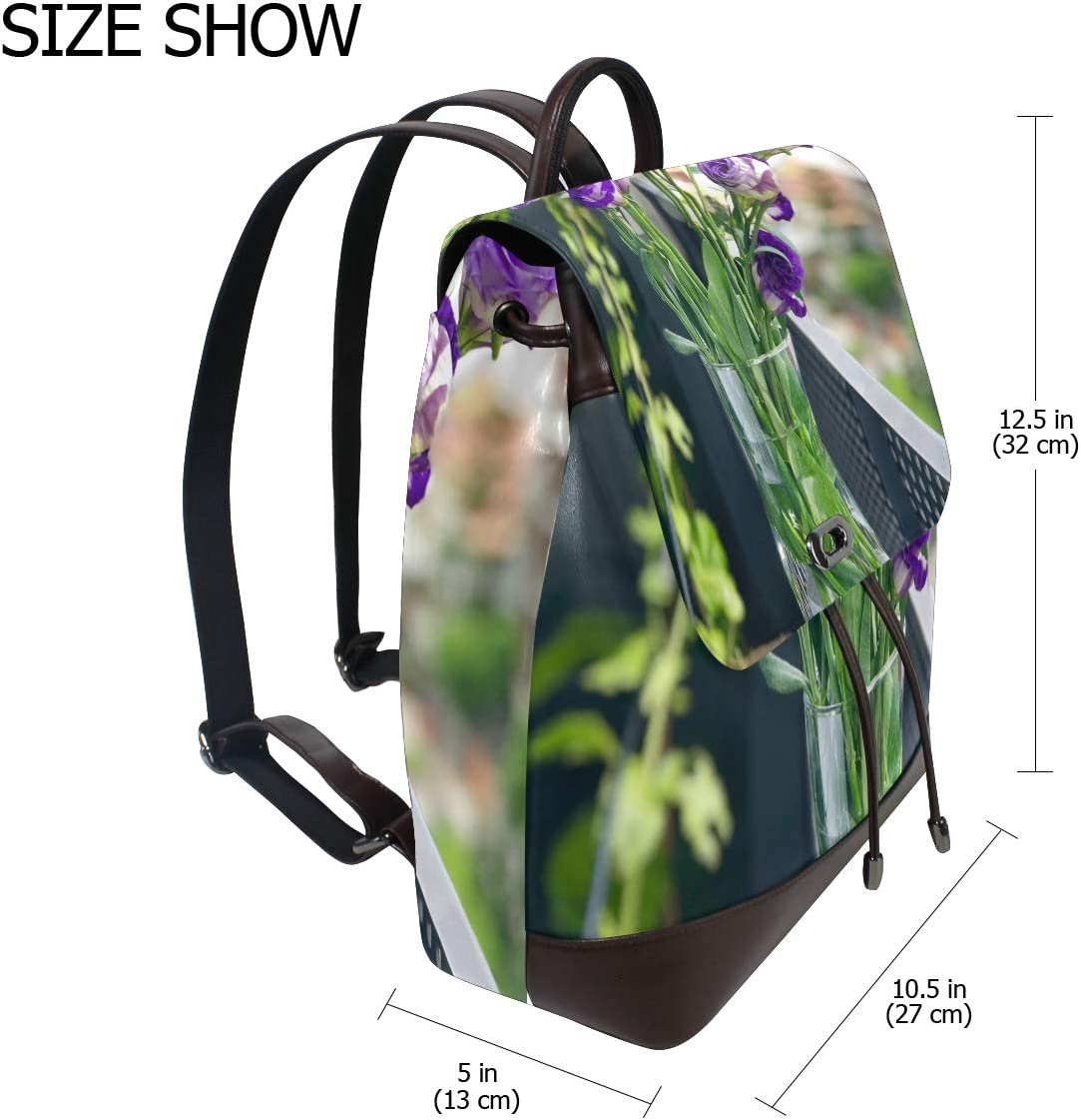 Travel Bag 2 Storage Bag For Men Women Girls Boys Personalized Pattern Purple Flower Shopping Bag Backpack School Bag