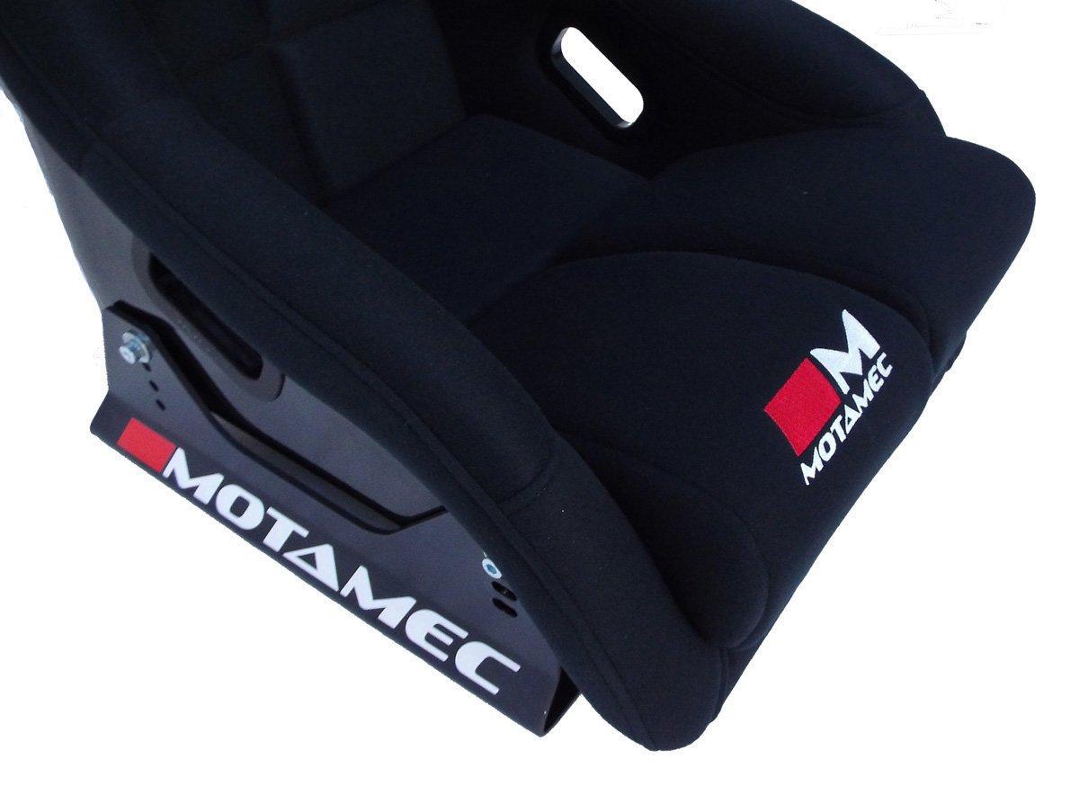 Motamec Racing Evo-one FIA Approuv/é Race Assise en fibre de verre Shell Fixation lat/érale Noir